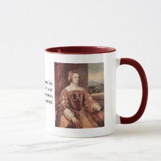 Porträtt av Isabella av Portugal Mugg