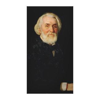 Porträtt av Ivan S. Turgenev, 1879 Canvastryck
