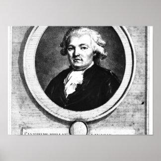 Porträtt av Jean-Anthelme Brillat-Savarin Poster