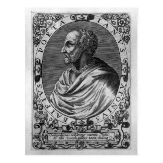Porträtt av Jean Antoine de Baif Vykort