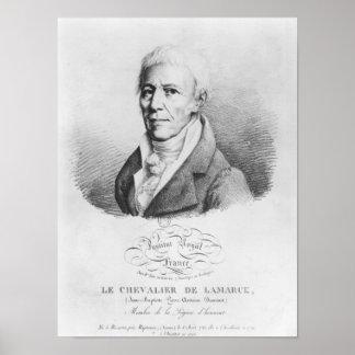 Porträtt av Jean-Baptiste de Monet Poster