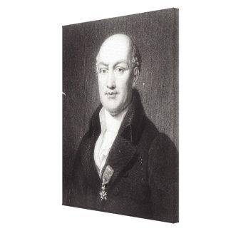 Porträtt av Jean Baptiste Joseph Delambre Canvastryck