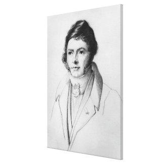 Porträtt av Jean-Francois Champollion, 1830 Canvastryck