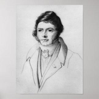Porträtt av Jean-Francois Champollion, 1830 Poster