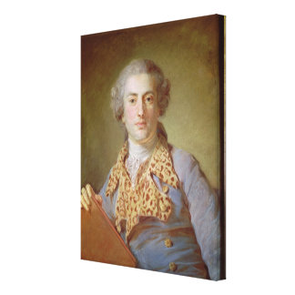 Porträtt av Jean-Georges Noverre, 1764 Canvastryck