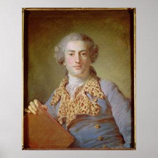 Porträtt av Jean-Georges Noverre, 1764 Poster