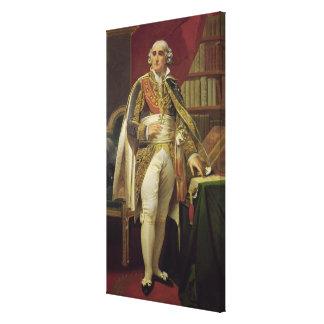 Porträtt av Jean-Jacques-Regis de Cambaceres Canvastryck