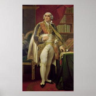 Porträtt av Jean-Jacques-Regis de Cambaceres Poster