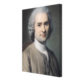 Porträtt av Jean-jacques Rousseau Canvastryck
