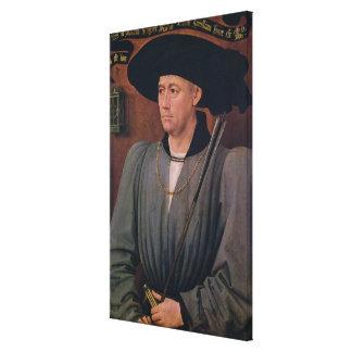 Porträtt av Jean Lefevre de Sanktt-Remy Canvastryck