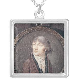 Porträtt av Jean-Marie Collot d'Herbois Silverpläterat Halsband