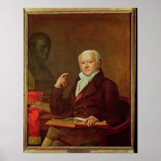 Porträtt av Jean Nicolas Corvisart des Marets Poster