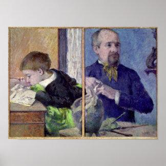 Porträtt av Jean Paul Aube och hans son Poster