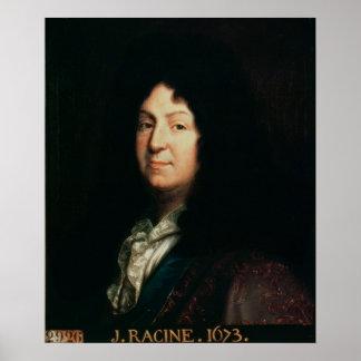 Porträtt av Jean Racine kopierar av ett original Poster