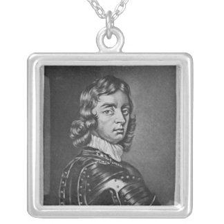 Porträtt av John Viscount Mordaunt Silverpläterat Halsband