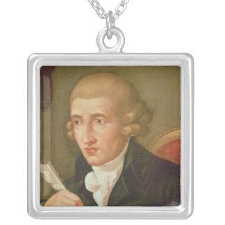 Porträtt av Joseph Haydn Silverpläterat Halsband