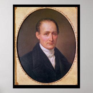 Porträtt av Joseph Nicephore Niepce 1854 Poster
