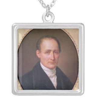 Porträtt av Joseph Nicephore Niepce 1854 Silverpläterat Halsband