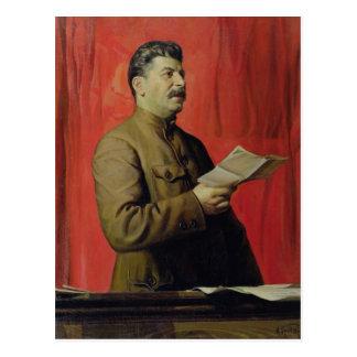 Porträtt av Josif Stalin, 1933 Vykort