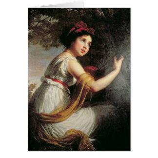 Porträtt av Julie Le Brun, c.1797 Hälsningskort