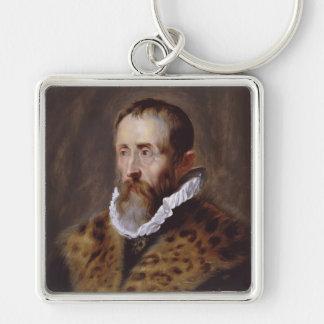 Porträtt av Justus Lipsius Paul Peter Rubens Fyrkantig Silverfärgad Nyckelring