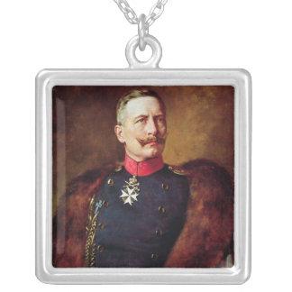 Porträtt av Kaiser Wilhelm Ii Silverpläterat Halsband