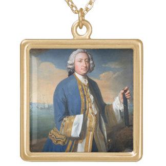 Porträtt av kaptenDavid Brodie (1709-87) innehav Personliga Halsband