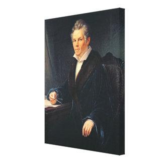Porträtt av Karl Friedrich Schinkel, c.1880 Canvastryck