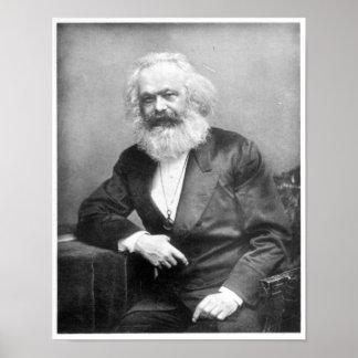 Porträtt av Karl Marx Poster