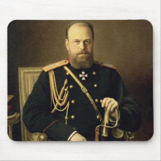 Porträtt av kejsaren Alexander III 1886 Musmatta