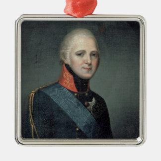 Porträtt av kejsaren Alexander mig, 1804 Julgransprydnad Metall