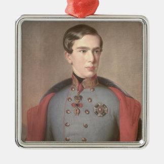 Porträtt av kejsaren Franz Joseph av Österrike Julgransprydnad Metall