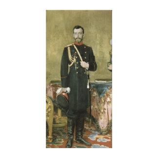 Porträtt av kejsaren Nicholas II 1895 Canvastryck