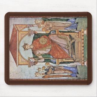 Porträtt av kejsaren Otto Ii, med symbolerna av Musmatta