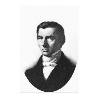 Porträtt av klassiska frisinnade Frederic Bastiat Canvastryck