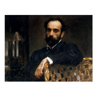 Porträtt av konstnären Isaak Ilyich Levitan Vykort