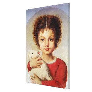 Porträtt av konstnärens dotter, Lina Canvastryck