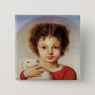 Porträtt av konstnärens dotter, Lina Standard Kanpp Fyrkantig 5.1 Cm