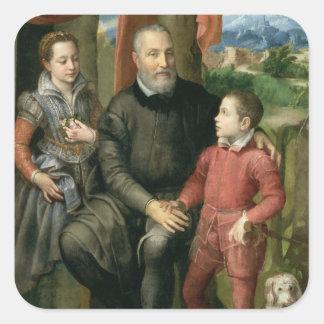Porträtt av konstnärens familj, Minerva Fyrkantigt Klistermärke