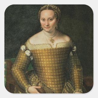 Porträtt av konstnärens mor fyrkantigt klistermärke