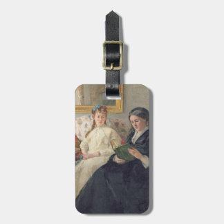 Porträtt av konstnärens mor och syster bagagebricka