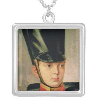 Porträtt av kronprinsen Alexander Silverpläterat Halsband