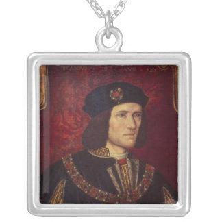 Porträtt av kungen Richard III Silverpläterat Halsband