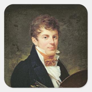 Porträtt av Lancelot Theodore Turpin de Crisse Fyrkantigt Klistermärke