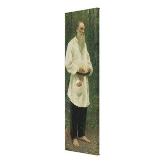Porträtt av leven Tolstoy 1901 Canvastryck