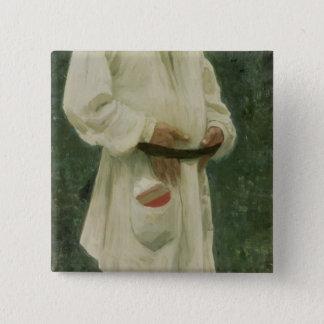 Porträtt av leven Tolstoy 1901 Standard Kanpp Fyrkantig 5.1 Cm