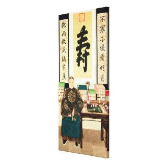 Porträtt av Li-Lieuen Ying, underbar Empress Tzu-H Canvastryck