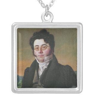 Porträtt av Louis Auguste Baudelocque Silverpläterat Halsband