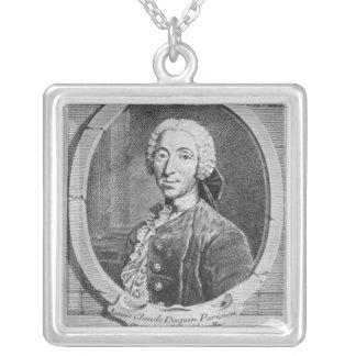 Porträtt av Louis-Claude d'Aquin Silverpläterat Halsband