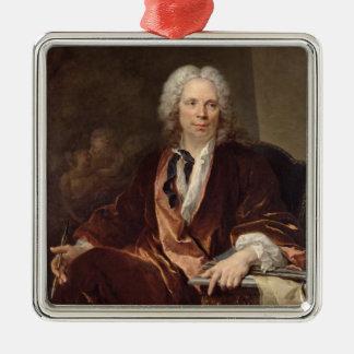 Porträtt av Louis Galloche 1734 Julgransprydnad Metall